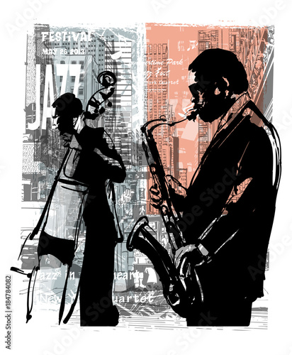 Foto op Canvas Art Studio Jazz in New York