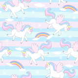 cute unicorn vector pattern