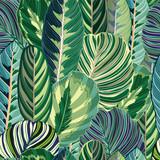 Tropical Green Jungle VectorSeamless Background