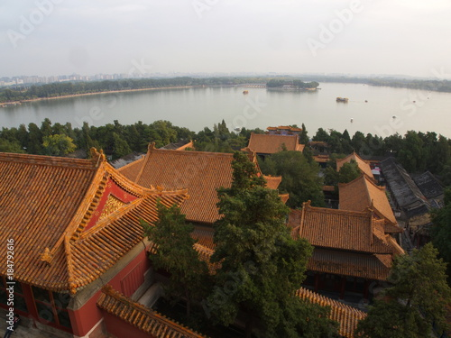 Foto op Canvas Peking The Summer Place in Beijing City.Travel in Beijing City, China. 20th October, 2017.