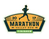 Fototapety Modern Urban Marathon Badge Logo Emblem Illustration