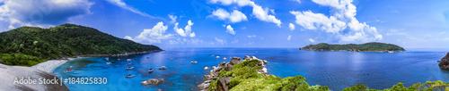 Aluminium Thailand Panorama view of a tropical island in Thailand. Similan island.