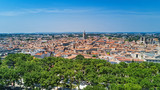 Aerial top view of Montpellier city skyline from above, Southern France  - 184828272