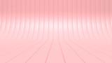 pink blank curve background studio 3d rendering