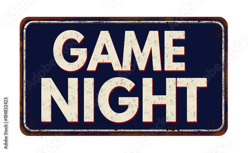 Game Night vintage rusty retro sign