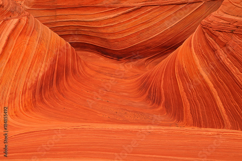 Tuinposter Baksteen The Wave in the Arizona desert, USA.