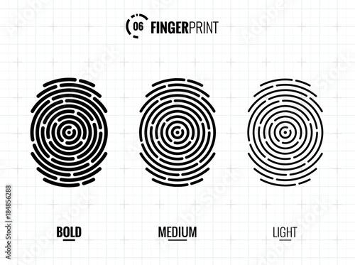 Fingerprint Scan Icon - 184856288