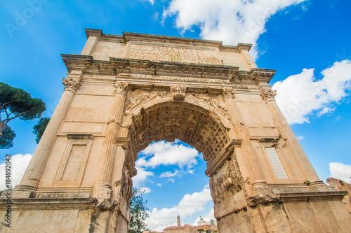 Foto op Plexiglas Cyprus The Arch of Roman emperor Titus on Forum Romanum, Rome, Lazio, Italy
