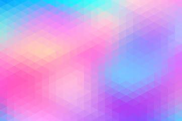 Polygonal background. Vibrant gradient