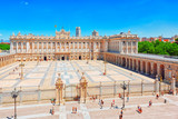Royal Palace in Madrid is the official residence of the Spanish Royal Family. Spain. - 184893076