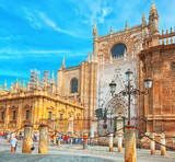 Cathedral of Saint Mary of the See (Catedral de Santa Maria de la Sede), better known as Seville Cathedral. - 184893263