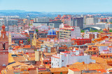 Panoramic view  of Valencia, is the capital of the autonomous community of Valencia and the third-largest city in Spain. - 184894002