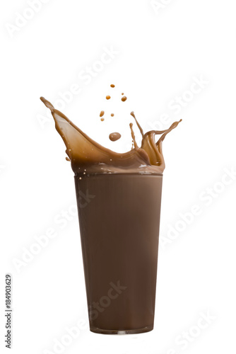 Foto op Canvas Milkshake Kakao Splash