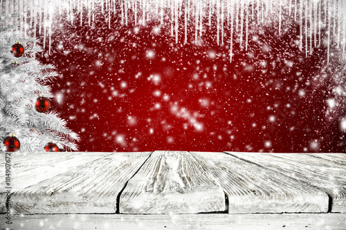 Foto op Canvas Rood paars winter background space