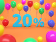 Twenty Percent Concept  - 3D Rendered Image