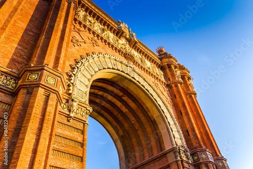 Foto op Canvas Barcelona Arc de Triomphe