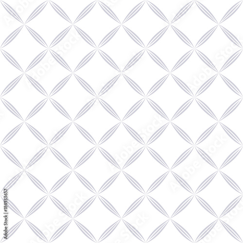 Abstract geometric pattern with squares, rhombuses. A seamless vector background. Grey and white graphic pattern. - 184933657