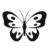 Butterfly in wildlife icon. Simple illustration of butterfly in wildlife vector icon for web