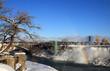 American waterfalls on Niagara at winter