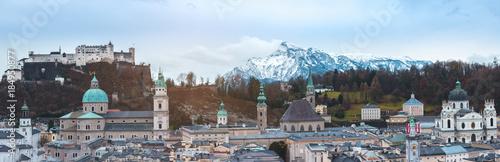 Deurstickers Wenen Salzburg Panorama, Austria