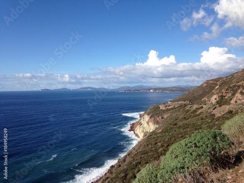 coast. between bosa and alghero, sardinia, italy