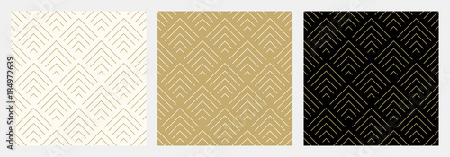 Pattern seamless chevron abstract wave background stripe gold luxury color and line. Geometric line vector. Christmas background. - 184972639