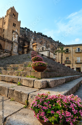 Fotobehang Palermo Cefalu town view, Sicily, Italy