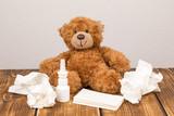 bear cold nasal spray handkerchiefs - 184987414