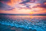 Sunset over ocean - 184991072