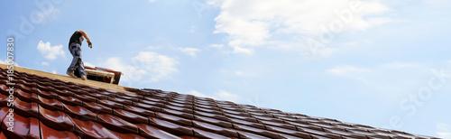 Foto Murales Dacheindeckung (Panoramabild)
