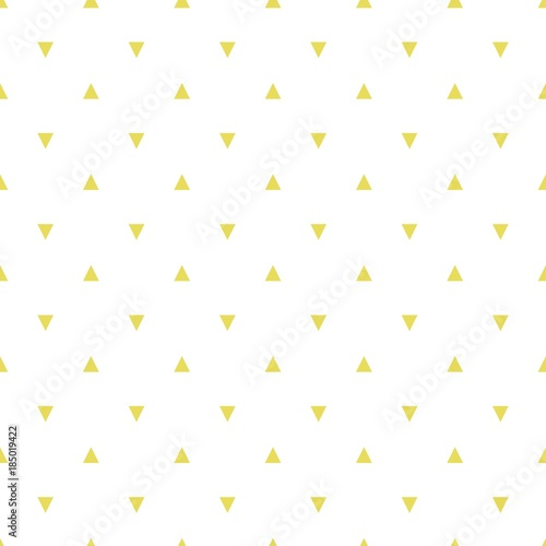 Monochrome vector seamless pattern with triangles, rhombuses, gold color (tile) - 185019422