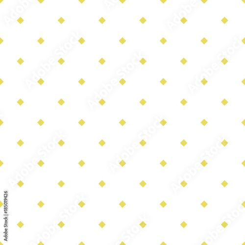 Monochrome vector seamless patterns with squares of gold color on a white background, rhombuses (tiles) - 185019426