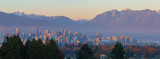 Vancouver BC Downtown Cityscape at Sunset Panorama British Columbia Canada - 185028850
