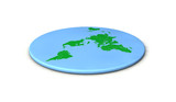Flat earth concept. 3D Rendering.