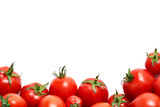 Bright red ripe tomatoes isolated on a white background - 185045634