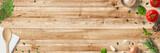 Küche und Kochen - klassische Zutaten - Banner / Hintergrund  - 185086879