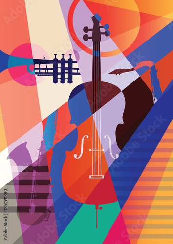 Colorful music background. © Yevhen