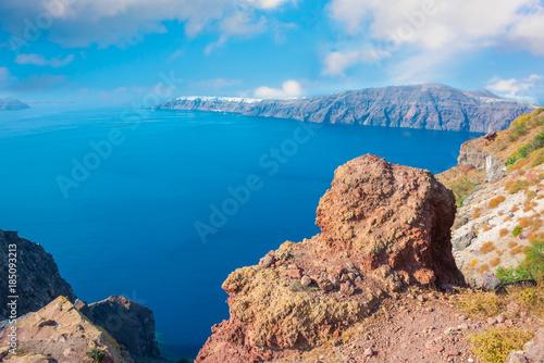 Foto op Aluminium Santorini View from Santorini island, Greece