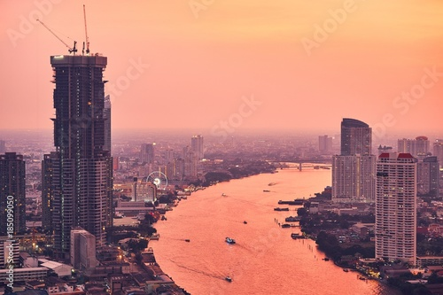 Foto op Plexiglas Bangkok Bangkok during amazing sunset