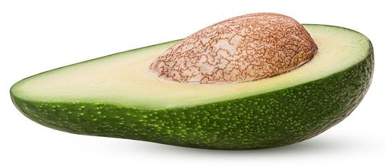 Avocado cut in half with bone