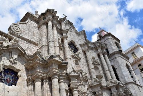 Aluminium Havana The Havana Cathedral in Cuba. Detail of facade