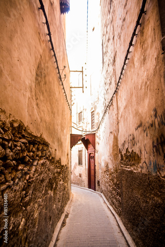 Aluminium Smalle straatjes Side Street, Morocco