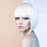 Fototapety Fashion beautiful blonde with short haircut