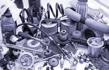 lots of auto parts