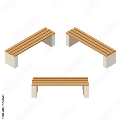 Aluminium Boerderij Set of wooden benches.isolated to construct garden, farm or other outdoor scenes