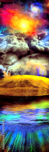 Obraz na Szkle Vivid Landscape