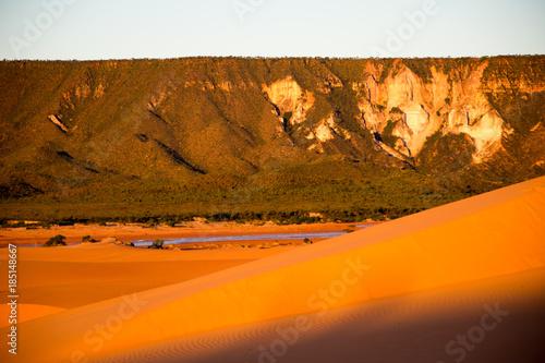 Poster Oranje eclat Jalapão Dunes Region in Tocantins - Brazil