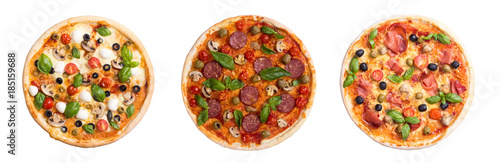 Italian pizza with mozzarella - 185159688