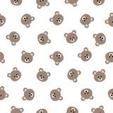 Seamless vector pattern - brown bears