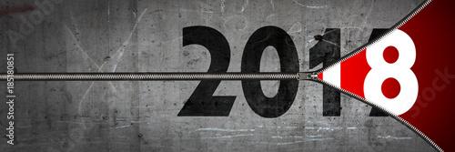 Frohes neues Jahr 2018 - 185180851